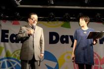 司会のビーグッドカフェ代表のシキタ純さん、BLUEBIRD代表の生姜塚理恵さん