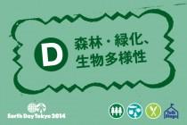 【D】森林・緑化、生物多様性 ゾーンの出店者リスト&レイアウト