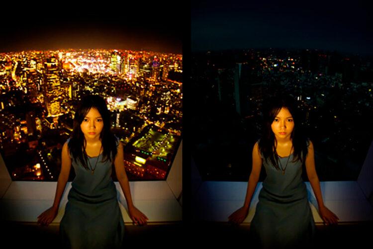 100万人のキャンドルナイト2004のメインビジュアルは女優の宮崎あおいさんでした。